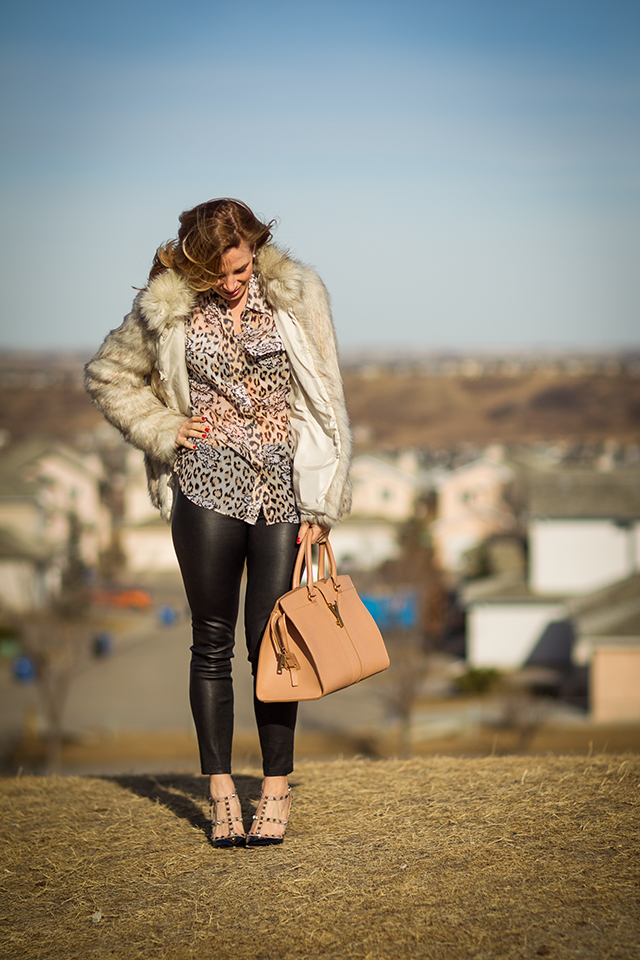 Leather Pants and Faux Fur 2