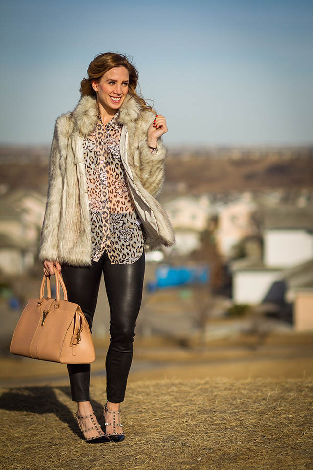 Leather Pants and Faux Fur 8