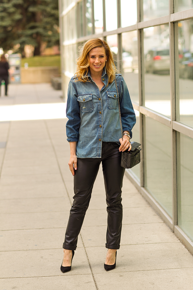 Leather and Chambray 1