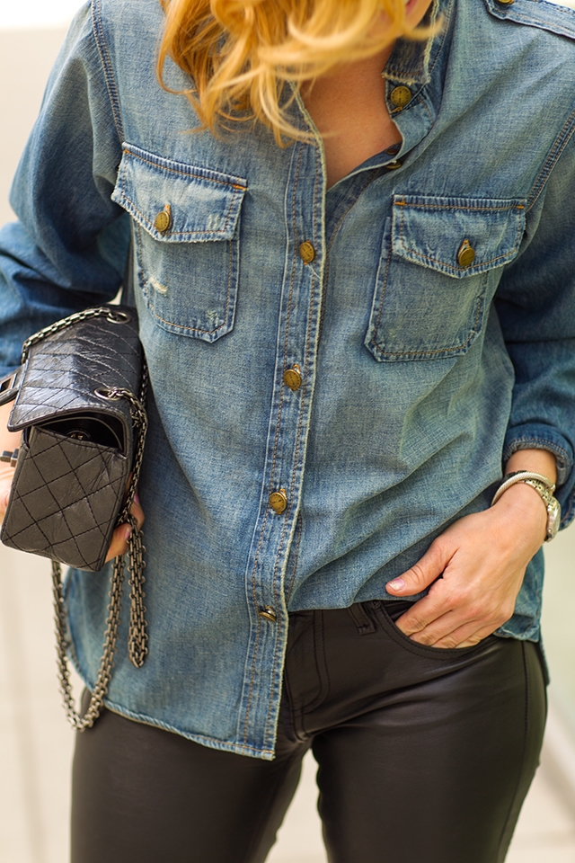 Leather and Chambray 10