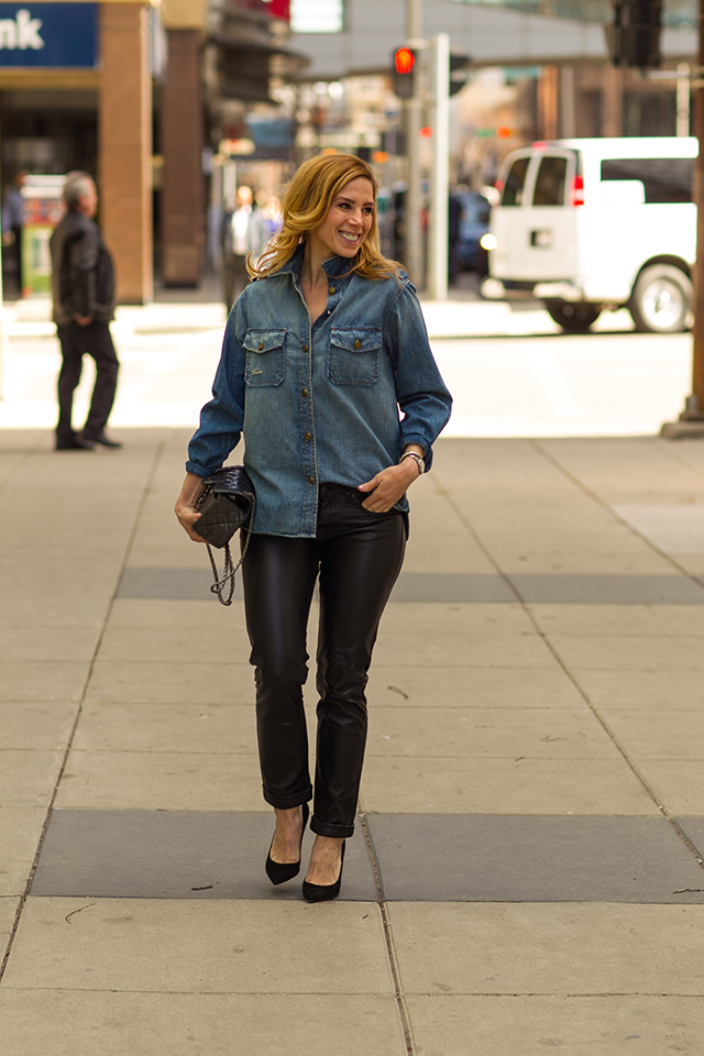 Leather and Chambray 12
