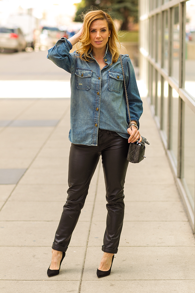 Leather and Chambray 2